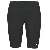 material Women leggings Nike NSESSNTL MR BIKER SHORT Black / White