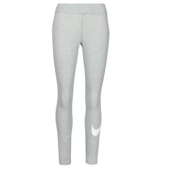 material Women leggings Nike NSESSNTL GX MR LGGNG SWSH Grey / White