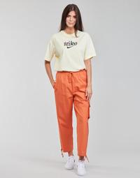 material Women Tracksuit bottoms Nike NSICN CLASH PANT CANVAS HR Brown / Orange