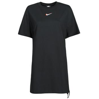 material Women short-sleeved t-shirts Nike NSESSNTL DRESS PRNT Black