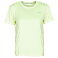 material Women short-sleeved t-shirts Nike MILER TOP SS Green / Grey