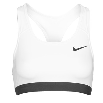 material Women Sport bras Nike DF SWSH BAND NONPDED BRA White / Black