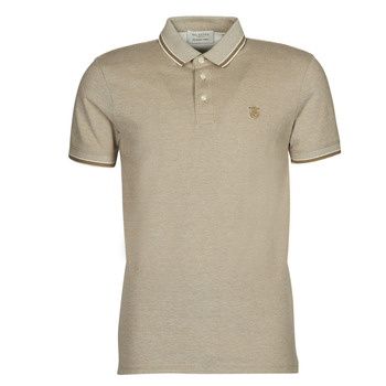 material Men short-sleeved polo shirts Selected SLHTWIST Beige