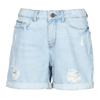 material Women Shorts / Bermudas Noisy May NMSMILEY Blue / Clear