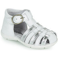 Shoes Girl Sandals Citrouille et Compagnie RINE White / Silver