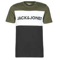 material Men short-sleeved t-shirts Jack & Jones JJELOGO Kaki