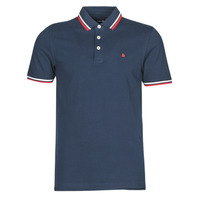 material Men short-sleeved polo shirts Jack & Jones JJEPAULOS Marine