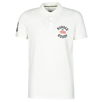 material Men short-sleeved polo shirts Jack & Jones JJAPPLICA White