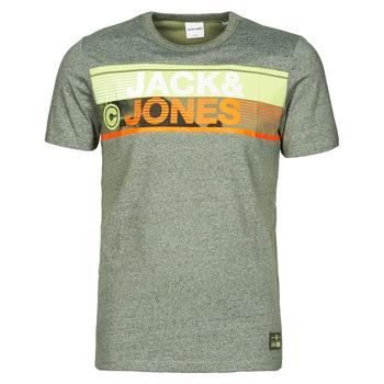 material Men short-sleeved t-shirts Jack & Jones JCONICCO Kaki