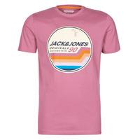 material Men short-sleeved t-shirts Jack & Jones JORTYLER Pink