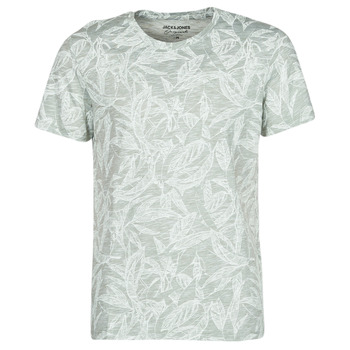 material Men short-sleeved t-shirts Jack & Jones JORLEFO Grey