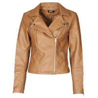 material Women Leather jackets / Imitation le Only ONLGEMMA Cognac