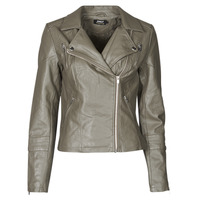 material Women Leather jackets / Imitation le Only ONLGEMMA Grey