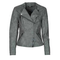 material Women Leather jackets / Imitation le Only ONLAVA Grey