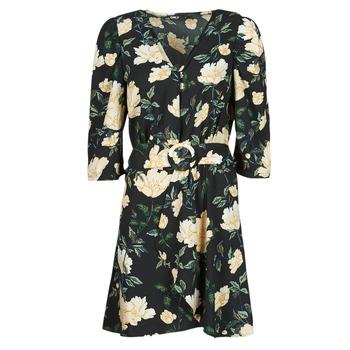 material Women Short Dresses Only ONLEVE 3/4 SLEEVE SHORT DRESS WVN Black