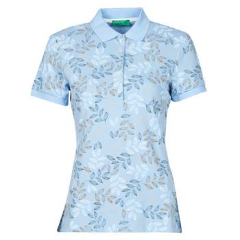 material Women short-sleeved polo shirts Benetton CHOLU Blue