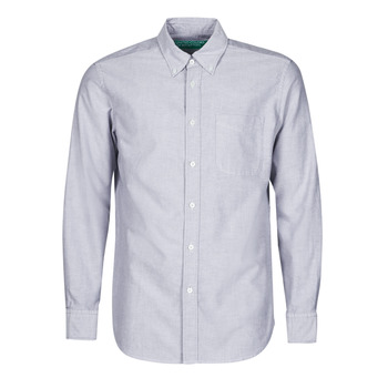 material Men long-sleeved shirts Benetton MIOT Blue