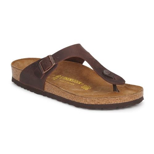 Shoes Women Flip flops Birkenstock GIZEH PREMIUM Brown