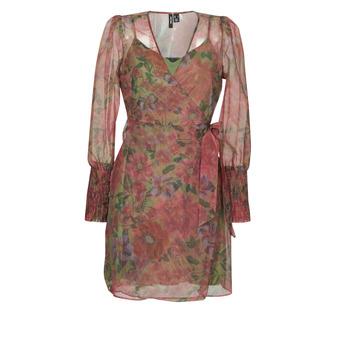 material Women Short Dresses Vero Moda VMABELIA Green / Red