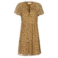 material Women Short Dresses Naf Naf MARIA R1 Camel