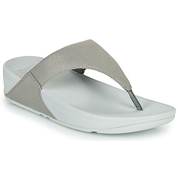 Shoes Women Flip flops FitFlop LULU SHIMMER TOE POST Silver