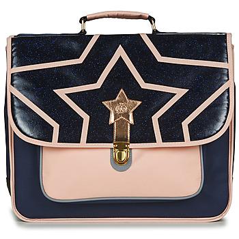 Bags Girl Satchels Citrouille et Compagnie SCUOLA 41CM Marine / Pink