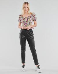 material Women 5-pocket trousers Yurban OPATI Black