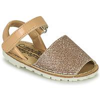 Shoes Girl Sandals Citrouille et Compagnie SQUOUBEL Beige