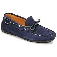 Shoes Men Loafers Pellet Nere Blue