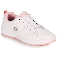 Shoes Children Low top trainers Skechers STREET CLEAT 2.0/STEP 'N STYLE White / Pink