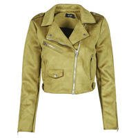 material Women Leather jackets / Imitation le Only ONLSHERRY CROP BONDED BIKER Green
