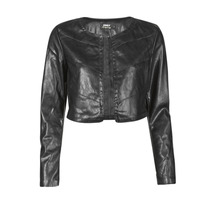 material Women Leather jackets / Imitation le Only ONLPEGGY Black