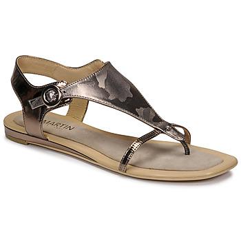Shoes Women Sandals JB Martin ARMOR Grey / Silver