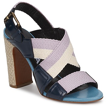 Shoes Women Sandals Rochas NASTR Black / Violet / Ecru