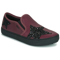Shoes Girl Low top trainers Geox J KALISPERA FILLE Violet