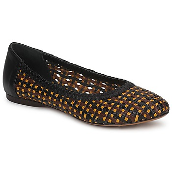 Shoes Women Ballerinas Stéphane Kelian WHITNEY Brown / Black