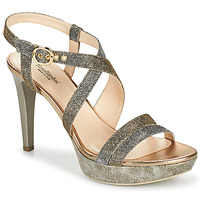 Shoes Women Sandals NeroGiardini KARKI Grey / Gold
