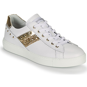 Shoes Women Low top trainers NeroGiardini DRILLA White / Gold