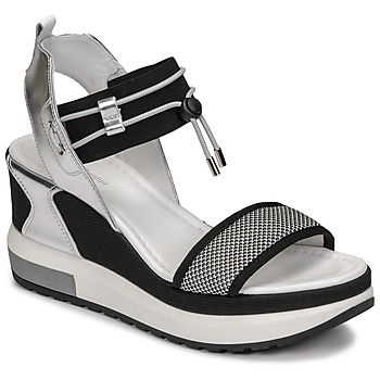 Shoes Women Sandals NeroGiardini CAMINO Black / Silver