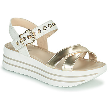 Shoes Women Sandals NeroGiardini TIMMA White / Gold