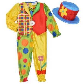 material Children Fancy Dress Fun Costumes COSTUME ENFANT COOKIE CLOWN Multicolour