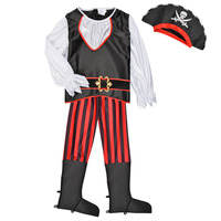 material Boy Fancy Dress Fun Costumes COSTUME ENFANT PIRATE TOM Multicolour