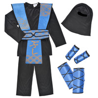 material Boy Fancy Dress Fun Costumes COSTUME ENFANT ROYAL NINJA Multicolour
