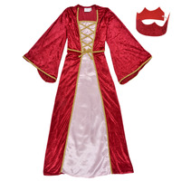 material Girl Fancy Dress Fun Costumes COSTUME ENFANT REINE DE LA RENAISSANCE Multicolour