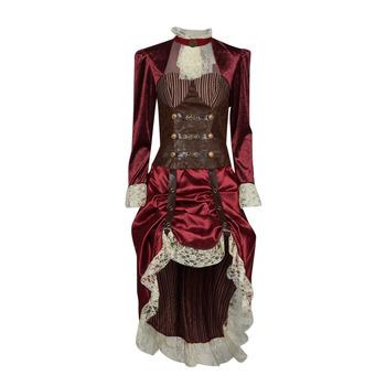 material Women Fancy Dress Fun Costumes COSTUME ADULTE LADY STEAMPUNK Multicolour