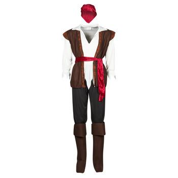 material Men Fancy Dress Fun Costumes COSTUME ADULTE PIRATE THUNDER Multicolour