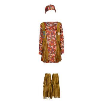 material Women Fancy Dress Fun Costumes COSTUME ADULTE HIPPIE HOTTIE Multicolour