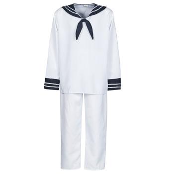 material Men Fancy Dress Fun Costumes COSTUME ADULTE MARIN BLANC White