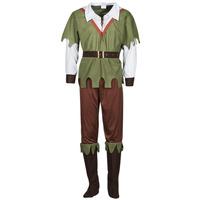 material Men Fancy Dress Fun Costumes COSTUME ADULTE FOREST HUNTER Multicolour