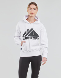 material Women sweaters Superdry MOUNTAIN SPORT MONO HOOD White